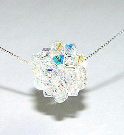 Boule Swarovski cristal AB