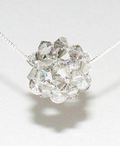 Boule Swarovski cristal satin